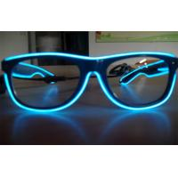 China Electroluminescent Full Frame El Wire Glasses / Sunglasses With Cool Lighting Blue Color on sale