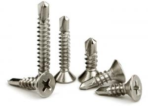 China Stainless Steel Phillips Drive Self Drilling Screws CSK Head, Flat Head Screw With Drill Point on sale
