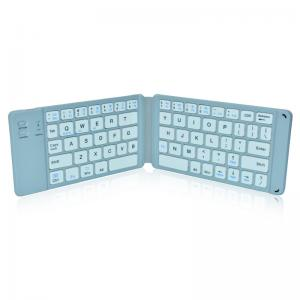 China Rechargeable Full Size Folding Keyboard , Folding Wireless Keyboard Compatible IOS Android Windows on sale