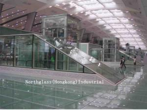 China 6mm, 8mm, Neutral Architectural glass curtain walls for airport, commercial building on sale