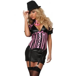 China Sexy Public Enemy Costume Adult Costumes for Carnival Christmas Halloween on sale