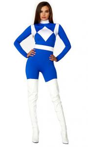 China Royal White Spandex Dominance Sexy Superhero Costume with Size S to XXL Available on sale