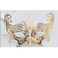 """China Venice Mask Metal Mask with Swarovski crystals  8""""PF002D-G on sale"""