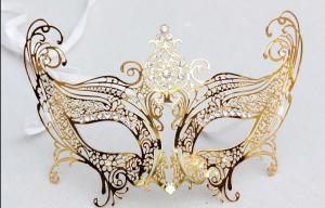 "China Venice Mask Metal Mask with Swarovski crystals  8""PF002D-G on sale"