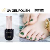 Professional Green Glitter Gel Nail Polish For Nail Art Environmently No Fade