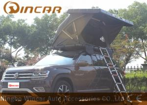 China Black Hard Shell Roof Top Tent Hardtop / Vehicle Pop Up Tents With One Side Open on sale