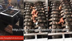 China Heavy Duty Dead Animal Shredder Machine Auto Reverse Switch For Cattle Bones on sale