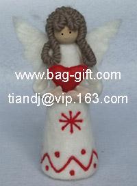 China felt santa girl doll on sale