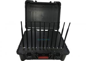 China Handheld Box Manpack Jammer 11 Channels Antenna 55W High Power Built - In Battery on sale