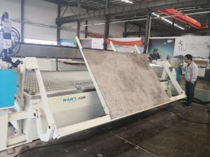 China WMT4020-ZDL 4000*2000mm AC 5 AXIS water jet cutting machine with 60000PSI direct drive pump and flip table on sale