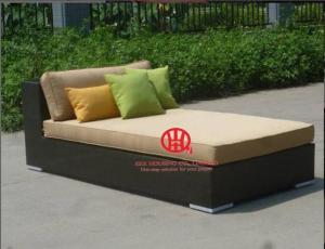 China All weather modern rattan furniture sofa bed on sale