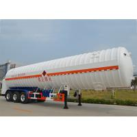 Stainless Steel 304 LNG Tank Truck Trailer 3 Axles with 55000L High Vacuum