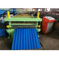 China IBR Double Layer Roll Forming Machine , Corrugated Sheet Rolling Machine18/16 Rows on sale