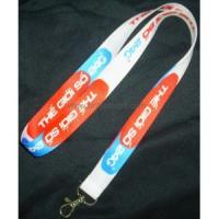 Customized felt key chain with silkscreen