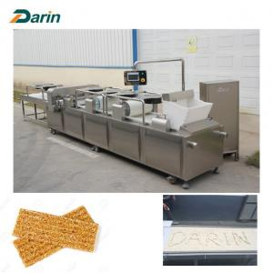 China Granola Bar / Muesli Bar / Cereal Snack Bar Cutting Machine Full Line Stainless Steel on sale
