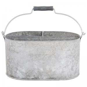 China Galvanized oval  antiqued silver color tool Storage Organizer tool box Container on sale