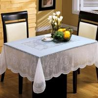 White PVC Table Cloth Easy Clean , Elegant Table Cover For Dining Room