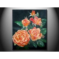 Eco - Friendly Wood Board Landscape Paint Hand made Oil Painting with Flower XSHH107