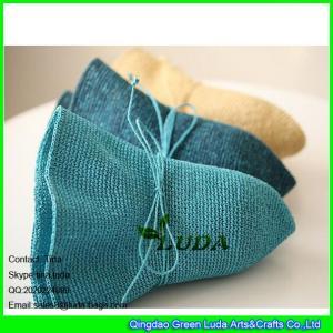 China LDMZ-009 wholesale summer lady sun visors hats crochet paper straw hats on sale