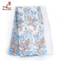 French Luxury Embroidery Lace Fabric Dress Voile Tulle Lace Fabric