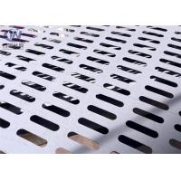 Slotted Perforated Metal Mesh Zinc Coated Plain Weave Style 1.22x2.44m Size