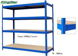 China High Tenacity Boltless Industrial Shelving 500Kg Capacity For Warehouse on sale