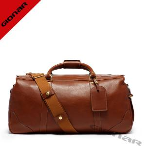 China Classical waterproof Cowhide Leather Duffel Bags With Nylon Interior Fabric on sale