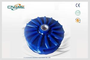 China Mining Slurry Pump Spare Parts Polyurethane Impeller Blue / Red on sale
