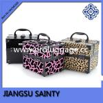 Fashionable hard side right angled wholesale professional makeup cases