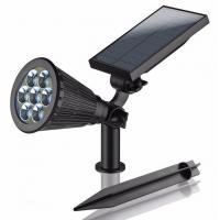 Waterproof RGB 7 Colors Solar Powered Led Sensor Light 3 Watt ABS Material