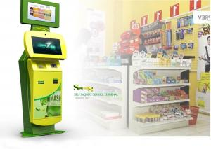 China Saw / Infrared / Resistance / Capacity Touch Screen Interactive Information Kiosk on sale