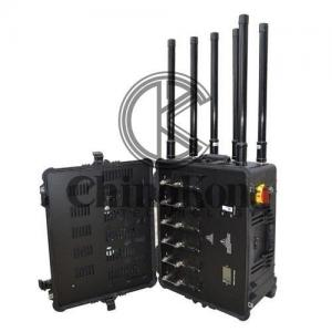 China Draw Bar Box 5 GHZ Jammer Portable Drone UAVS Signal Jammer Jamming Up To 1500m on sale