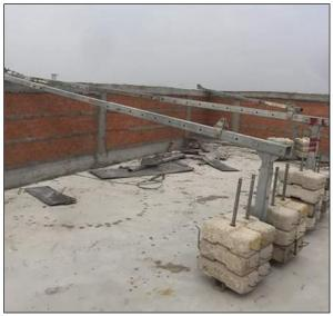 China Aluminium 6 meters 630kg ZLP630 suspended access platform for building cleaning on sale