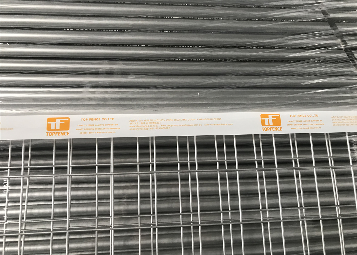Free Standing Temporary Fencing Panels 2.1mx2.4m OD32mm wall thick ...