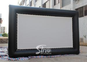 China Custom made giant advertising inflatable movie screen with back frame for outdoor use on sale