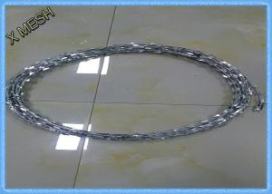 China BTO22 Safety Razor Barbed Wire Hot Dipped Galvanized 3/5 Clips PVC Coated on sale