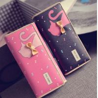 Tie cat wallet 2016 new Miss Han Ban lovely cartoon printed long section of loose change