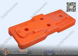 China 600x230x90mm HDPE 5502 UV treated Plastic Base for Temporary Fencing on sale