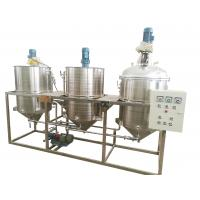 China Three Tanks Oil Refinery Equipment , Palm Oil Refining Machine High Performance on sale