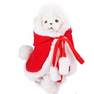 China Cotton Pet Christmas Costumes Red / White Color 30CM Height 80 - 120G on sale