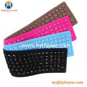 China 113 keys Wired Silicon PC/ Tablet/ Laptop/ Smartphone Keyboard Flexible & Waterproof on sale
