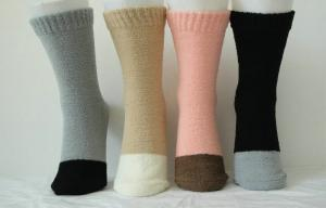 China Breathable Softness Plain Ladies Cashmere Socks with Hand Link for Ladies on sale