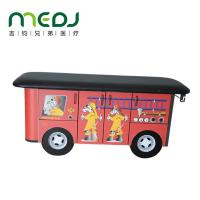 China Cute Cartoon Wooden Train Pediatric Exam Table Designed For Children on sale
