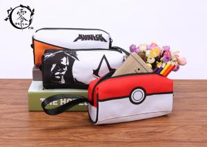 China Cartoon Pokemon Balls Canvas Pencil Case Pouch Portable Waterproof Pencil Wrap Case on sale