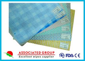 China Mesh Printing Non Woven Roll , Spunlace Nonwoven Wipes With Different Color / Pattern on sale