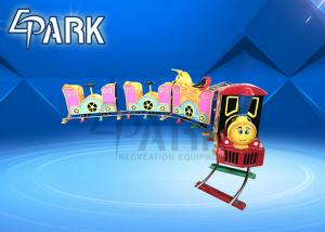 China 24V Amusement Park Music Kiddy Ride Machine / Train Ride On Track on sale