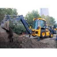 Engineering Construction Compact Tractor Loader , 4WD Tractor Mounted Backhoe