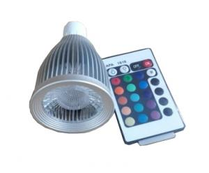 China 9W Indoor E27 GU10 MR16 GU5.3 RGB LED Spot Light Lamp with remote controller AC 85-240V on sale