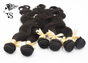 China Virgin Peruvian Unprocessed Human Hair Weave 6 Bundles Body Wave Natural Black on sale