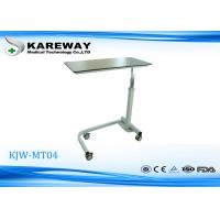 Compact Panel Hospital Overbed Table With Hydraulic Mechanism KJW-MT04